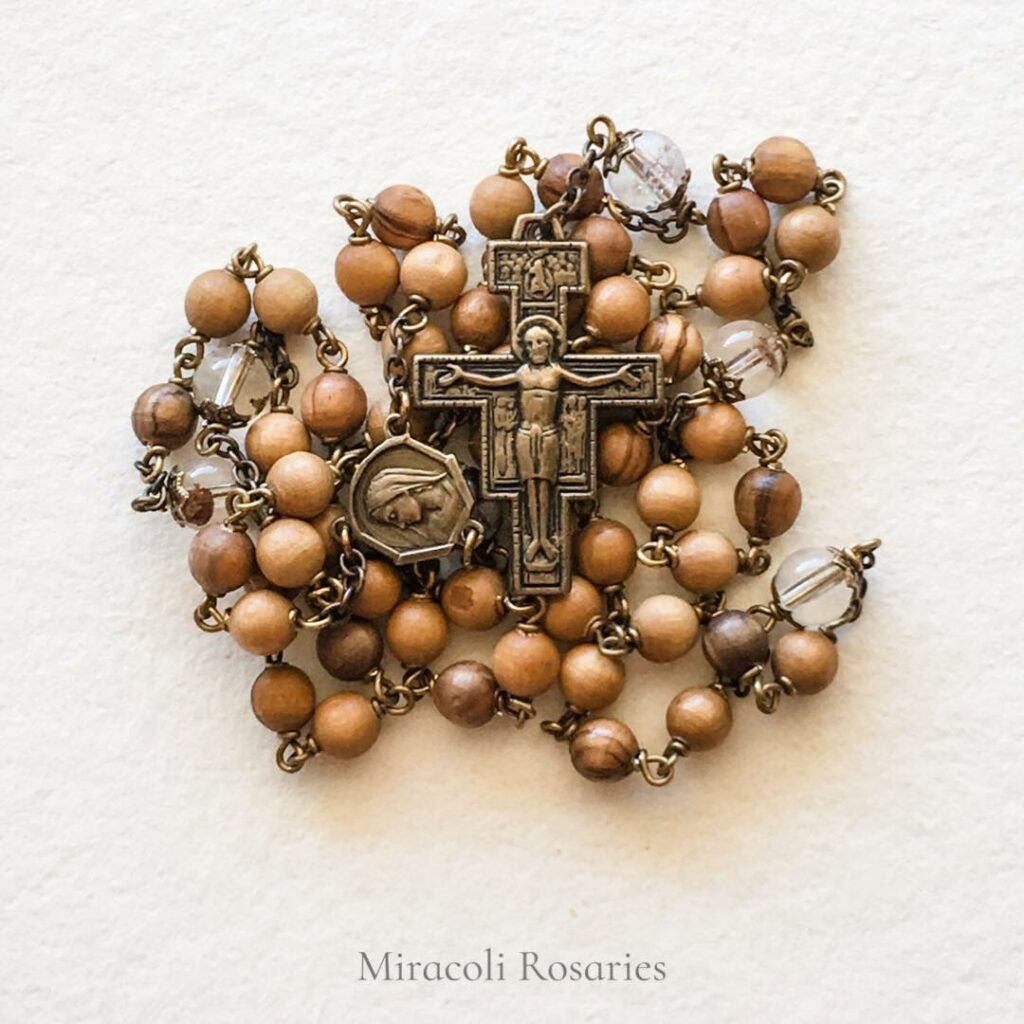 Carlo Acutis Bronze Rosary with Lodalite and Olive Wood